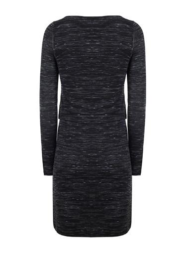 Kayık Yaka Uzun Kollu Elbise-Vekem